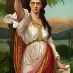 Deborah the prophetess under her palm tree judging Israel (painting by Charles Landelle, 1901)